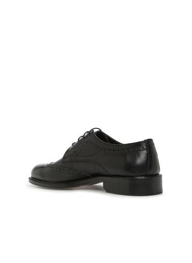 Divarese Divarese 5024810 Doku Detaylı Erkek Deri Ayakkabı Siyah